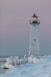 Sunset at Sodus Point lighthouse