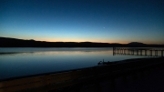 Dusk from my room in Tomales Bay