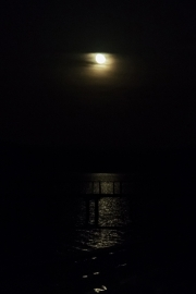 The Moon from my room in Tomales Bay