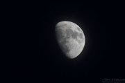 Moon photographed from Sax-Zim Bog, MN