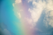 Rainbow and Cumulus Clouds